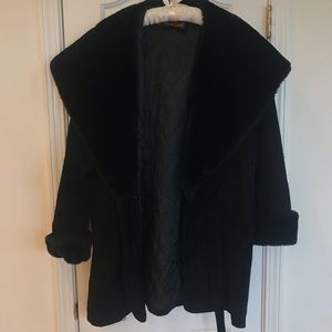 Heavy Black Vintage Winter Coat
